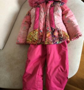 Зимний комплект на девочку(комбинезон +куртка)