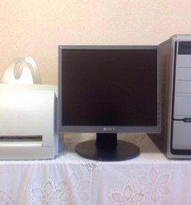 Системный блок, монитор +чб принтер