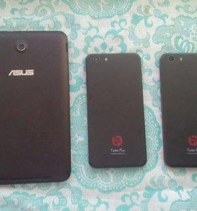 Два телефона и планшет