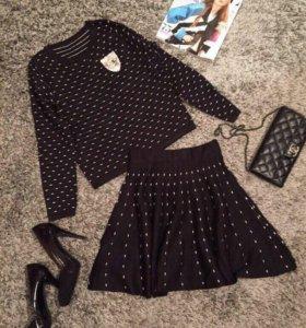 Костюм, Шанель, кофта+юбка