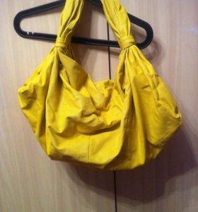 Сумка-мешок желтая