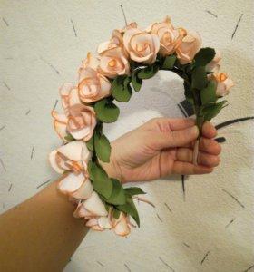 Ободок с розачками из фоамирана