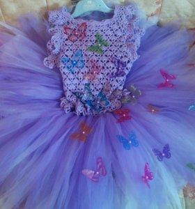 Красивое платье ручной работы