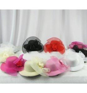 Заколки мини шляпки