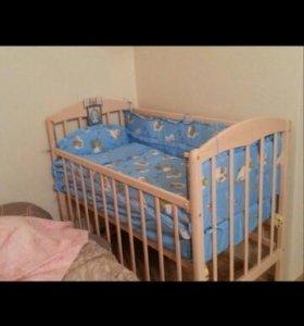 Комплект для детской кроватки 8 предметов