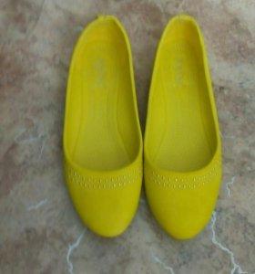 Балетки желтые
