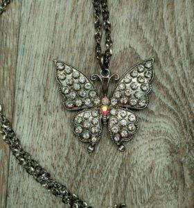 Бабочка кулон подвеска бижутерия