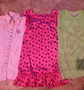 Платье+ свитер +блузка