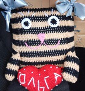 Подушка-кот именная