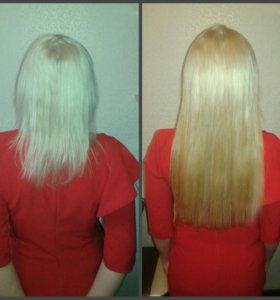 Корекция нарощенных волос