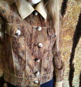 Итальянская куртка-дубленка весна