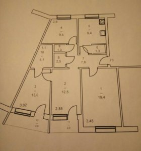 4х комнатная квартира в 23 доме.