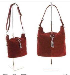 ПОСЛЕДНИЙ ШАНС!Женская сумка из натуральной замши.