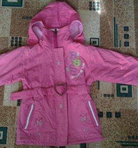 Куртка на теплую весну на 6-7лет