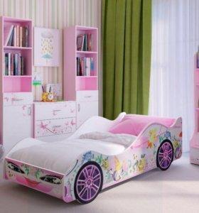 Кровать розовая