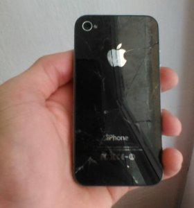 Продаю айфон 4, на 8GB, на запчасти, заблокирован