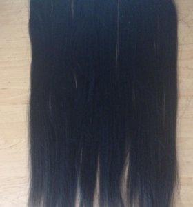 Продам накладные черные волосы.