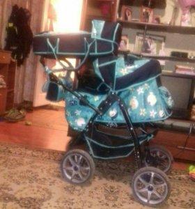 Коляска трансформер + коляска трость в подарок!