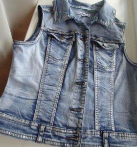 Джинсовка и юбка