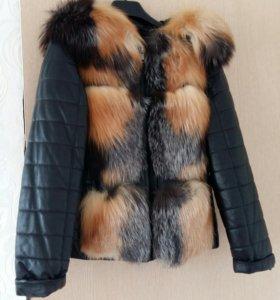 Срочно продам кожанную куртку размер 44