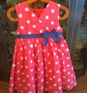 Летнее платье mothercare