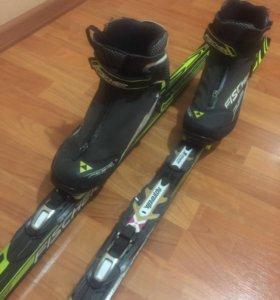 Лыжи,ботинки FISHER (подростковые)
