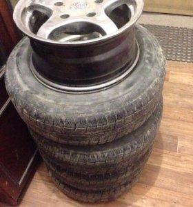 Продам комплект колёс от Шеви нивы