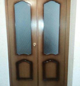 Двустворчатые двери МДФ