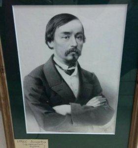 Гравюра Некрасов 1886 год