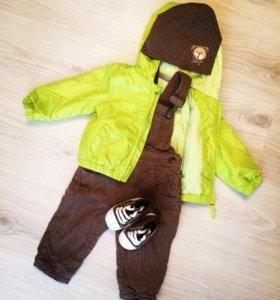 Куртка Baby Go 74p. Комбинезон 80р. Шапка