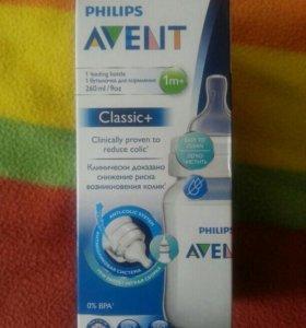 Бутылочка Avent classic+ 1m+ 260ml