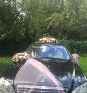 Цветы на авто/ украшение/ свадьба