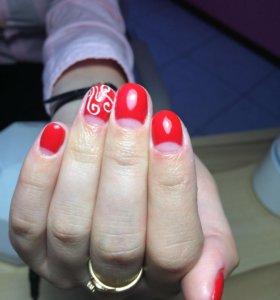 Маникюр, покрытие, выравнивание ногтей.
