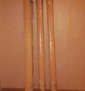 Шторы-рулонные, бамбуковые НОВЫЕ