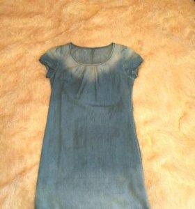 Джинсовое летнее платье
