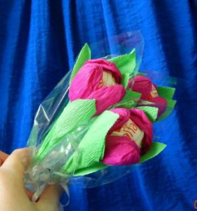 Тюльпан с конфеткой