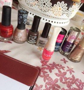 Лаки для ногтей Pink Up,DIVAGE,Rimmel...