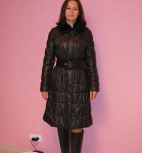Черное демисезонное пальто Damo, б/у