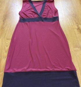 Красивое платье брусничного цвета