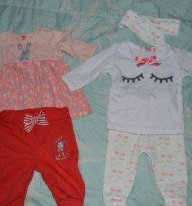 Вещички на новорожденную девочку