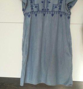 Платье джинсовое 48