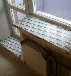Пластиковое окно. Дверь на балкон.