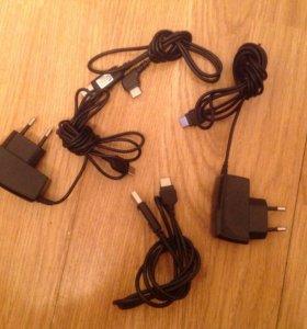 Зарядники и USB шнуры для телефона Samsung.
