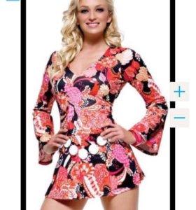 Классное яркое платье туника для фотосессии