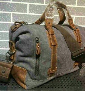 дорожная сумка крафт