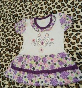 Платье летнее 74 см