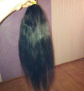 Срочно Натуральный черный волос
