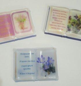 Сувенирное мыло в форме книги