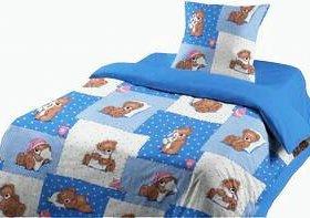Детский 1,5-спальный КПБ (бязь Гост)+беспл.доставк