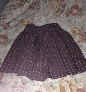 Пышная юбка в горошек